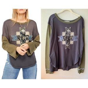 Free People - Lone Star Patchwork Thermal Top